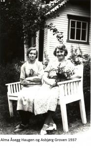 Alma Åsegg, Asbjørg Groven 1937x