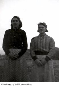 Ellen Loeng, Haldis Hestmo 1938