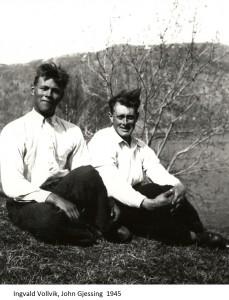 Ingvald Vollvik, John Gjessing 1945x