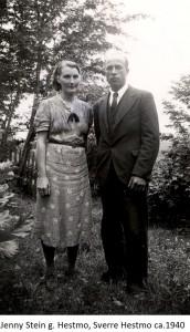 Jenny Stein g. Hestmo, Sverre Hestmo 1940x