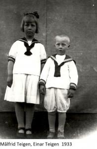 Målfrid Teigen, Einar Teigen 1933x