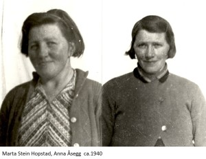 Marta Stein Hopstad, Anna Åsegg 1940