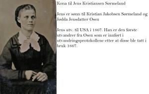 Kone til Jens Kristiansen Sørmeland