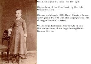 Olea Kristine (Sundet) Ervik 1890-1971
